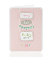 Perfect Baby Girl Greetings Card