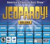 Jeopardy Deluxe Educational Computer Software Game
