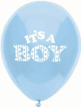 Blue Baby Shower Balloons - It's a Boy Balloons - 8 Count - 1