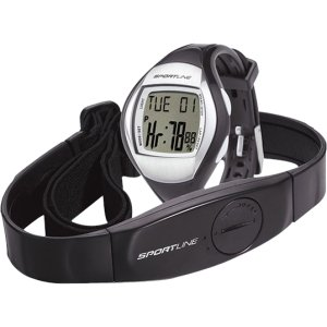 Sportline Duo 1010 Heart Rate Monitor Watch with d Chest Belt