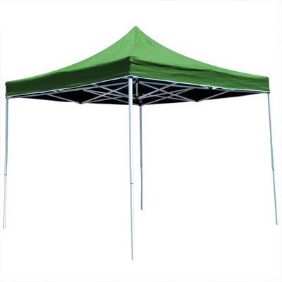 Folding Canopy Pop Up Shelter Gazebo 10'x10' with Carry Bag (Green)