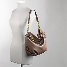 Coach Leather Brooke Shoulder Hobo Bag Purse 14142 Black 74