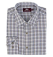Pure Cotton Mini Traditional Checked Twill Shirt