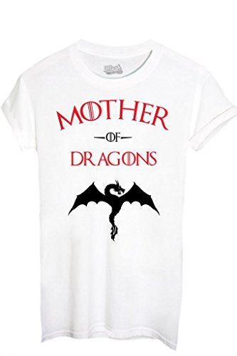 T-Shirt MOTHER OF DRAGONS GAME OF THRONES - FILM by iMage Dress Your Style - Donna-L-BIANCA