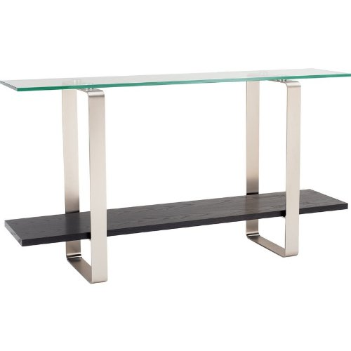 Image of BDI Stream Collection 1523G Console / Sofa Table - Espresso w/ Glass Top (B004WJTQOG)
