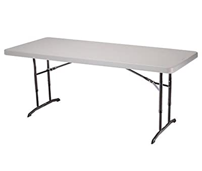 Lifetime 22920 Almond 6ft Adjustable 72in x 30in Molded Top Folding Table