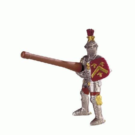 Bullyland Red Lance Knight Figure