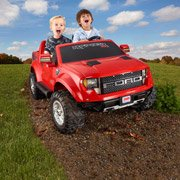 Fisher-Price Power Wheels Red Ford F150 Raptor 12-Volt Battery-Powered Ride-On