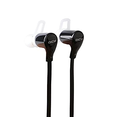 Mactrem QCY QY5 Lightweight Portable Wireless Stereo Sports Bluetooth Headphones Earbuds Earphone with Microphone for Iphone Ipad New Ipad Ipod Android Samsung Galaxy Smart Phone-Black