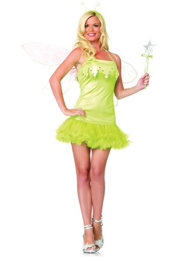 Sexy Green Fairy Costume Pixie Nymph Sprite Magical Theatre Costumes