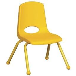 ECR4Kids Plastic Classroom Chair [Set of 6] Foot Type: Ball Glide, Seat Height: 12\