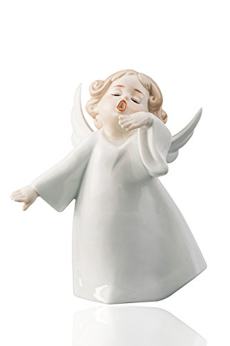 Singing Little Baby Angel Cherub Porcelain Figurine Statuette Figure Christmas Collectibles