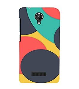 EPICCASE colorfull case Mobile Back Case Cover For Micromax Canvas Spark Q380 (Designer Case)