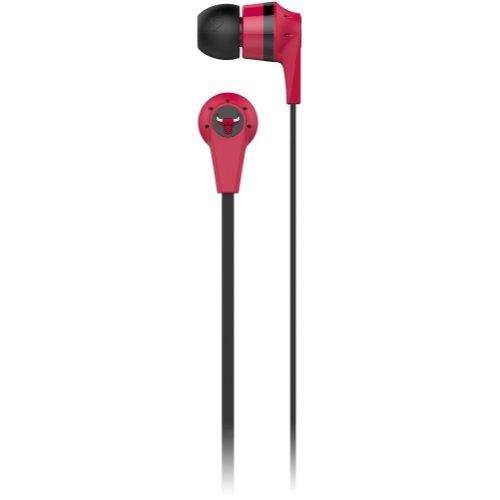Skullcandy Chicago Bulls Ink'D 2.0 Nba Series Sports Collection Earphones/Earbuds Headphone - Red / One Size