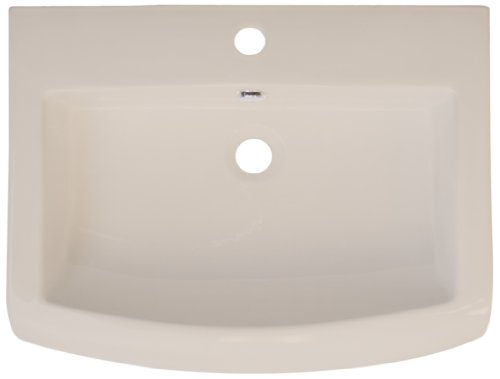 American Imaginations 318 23-Inch by 18-Inch Biscuit Ceramic Top with Single Hole