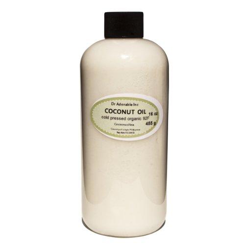Organic Pure Coconut Oil 92 Degree 16 Oz
