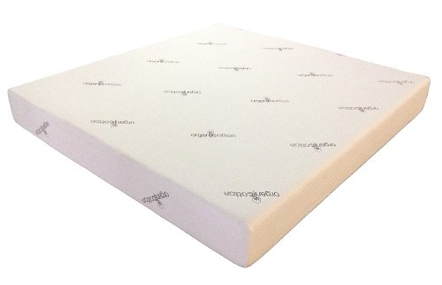 "J&M Furniture 10"" Gel Memory Foam Mattress With Organic Cotton Cover - King Size"