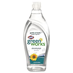 GreenWorks Natural Dishwashing Liquid, Free & Clear, 22-Fluid Ounce Bottles(Pack of 12)