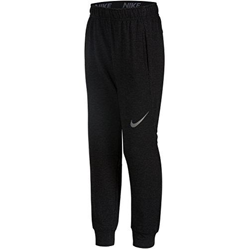 Nike Little Boys' Training Fleece Pants(Black Heather, 7)