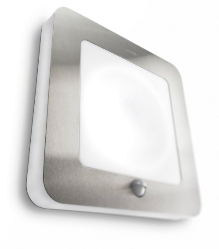 Philips Ecomoods Outdoor Energy Saving Pir Wall Light 16902/47/16 In Silver Effect
