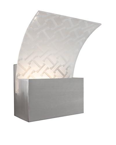 Alternating Current 1-Light Screen Bath, Satin Nickel