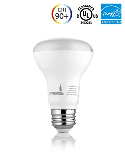 BR20 LED Bulb, Hyperikon, 8W (50W equivalent), 4000K (Daylight White, CRI 90+, Wide Flood Light Bulb, 120° Beam Angle, Medium Base (E26), Dimmable, UL-Listed (40w Type R Bulb compare prices)