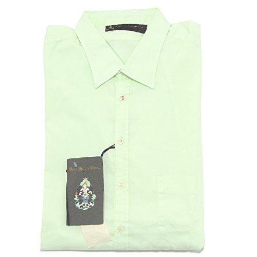 5703L camicia uomo verde DONDUP manica lunga camicie shirts men [L]