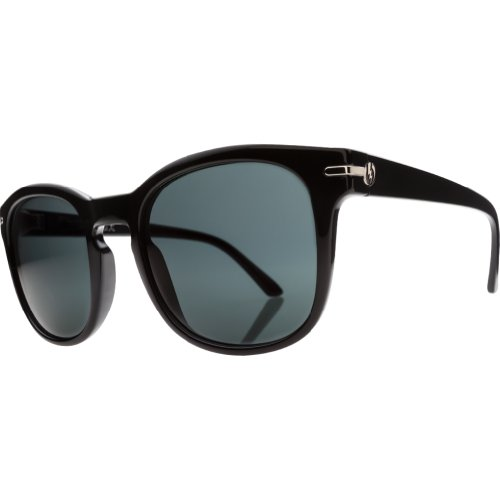 Electric Visual Rip Rock Es11401642 Polarized Round Sunglasses,Gloss Black,50 Mm