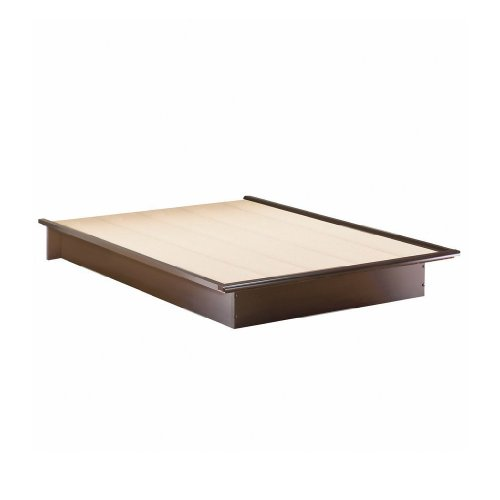South Shore Furniture Step One Full Platform Bed, Chocolate