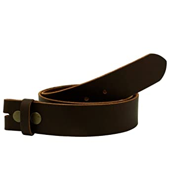 "DISTRESSED BROWN Leather Snap on Belt Strap XL 38""-40"""