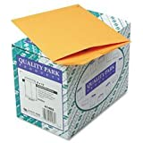 Quality Park 41465 Quality Park Catalog Envelopes, Heavyweight/Gummed, 9x12, 28lb, Kraft, 250/Box