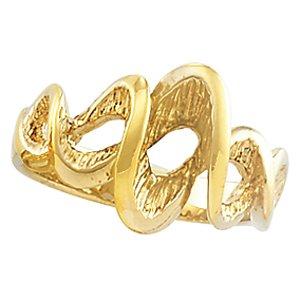 14K Yellow Gold Metal Fashion Ring Size: 7