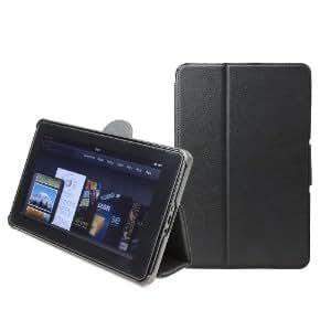 GreatShield Fliq Folio Case Cover Compatible with Amazon Kindle Fire (Black)