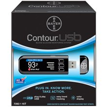 Image of Bayer Contour USB Blood Glucose Monitoring System 1.0 ea. (Quantity of 2) (B008RUA7QW)
