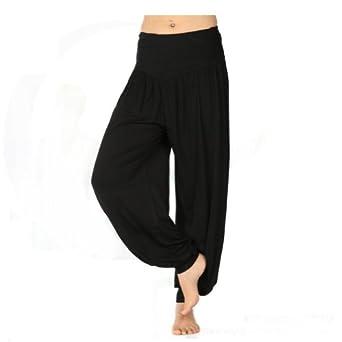 Wonderful CO Womens Stretch Cotton Wide Leg Loose Yoga Jogging Bottoms Pants