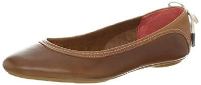 (历史最低) 暇步士Hush Puppies 女士真皮减震休闲鞋 Chaste Skimmer LB棕 $48.13
