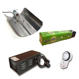 Hydroponic Grow Room Tent Lighting Kit - Reflector, Ballast, Timer, Bulb - 600w Sodium
