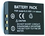 Two (2x) Li-on Batteries KLIC-5001 For Kodak P712, P850, P880, Series Z730, Z7590, Z760