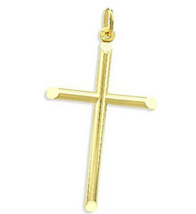 Classic Plain Cross Pendant 14k Yellow Gold Charm