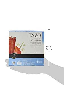 Keurig Tazo Sweetened Iced Passion Tea K-cup 16 Ct