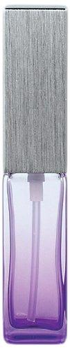 ヤマダアトマイザー ハンドメイドグラスアトマイザー メタルポンプ 17496 角ビングラデ パープル キャップ ヘアラインシルバー ポンプ シルバー 約4ml