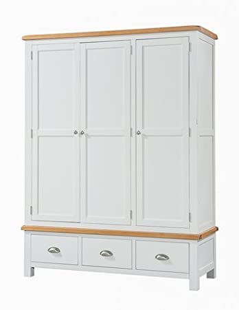 Clevedon Light Grey Painted Triple Wardrobe