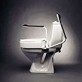 Sammons Preston Etac Hi Loo Raised Toilet Seat with Armrests