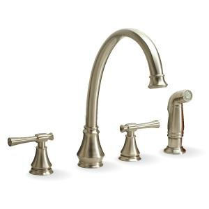 Hardware Express 120118lf Torino 4 Hole Kitchen Faucet With Spray