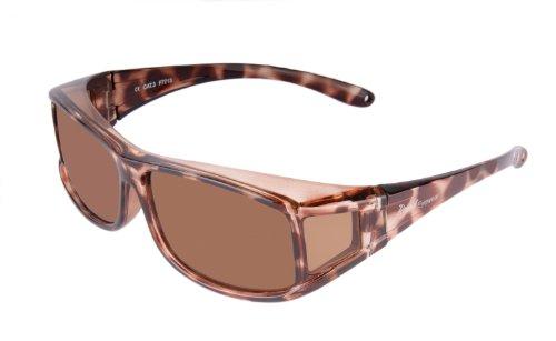 WOMENS POLARISED OVERGLASSES Fashionable TORTOISESHELL UV Sunglasses for Driving etc.