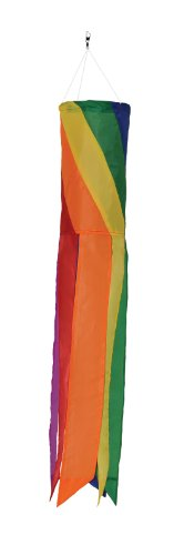 In the Breeze Rainbow Diagonal Value Sock/Windsock, 24-Inch