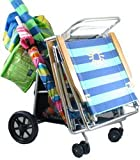 Deluxe Wonder Wheeler Beach Cooler & Beach Chair Cart 2011