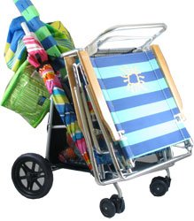 New Deluxe Wonder Wheeler Beach Rolling Cart