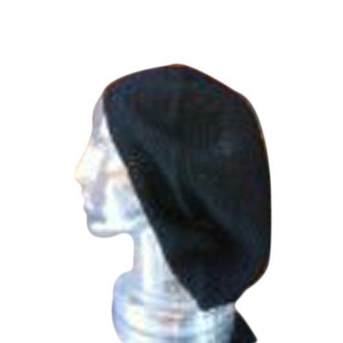 Xl Tam Beret Hat Solid Black Hand Crochet Knit Slouchy Dreadlock Reggae Rasta front-492077