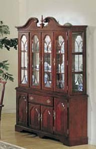 Cheap China Cabinet Buffet Hutch Cherry Finish (VF_AM2454)